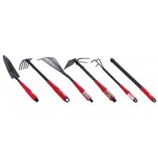 Набор огородный: лопата 330мм, грабли 330мм, грабли веерные 400мм, сапка огородная 330мм, удлинитель