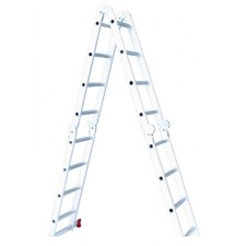 Лестница алюминиевая мультифункциональная трансформер 4*2 ступ. 2.50м