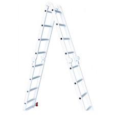 Лестница алюминиевая мультифункциональная трансформер 4*3ступ., 3.70м