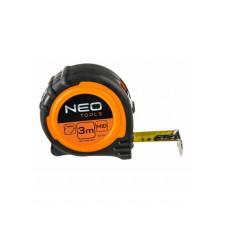 Рулетка, сталева стрічка  3 м x 19 мм, магніт NEO